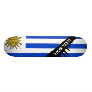 Uraguay flag skateboard deck