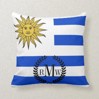 Uraguay flag throw pillow