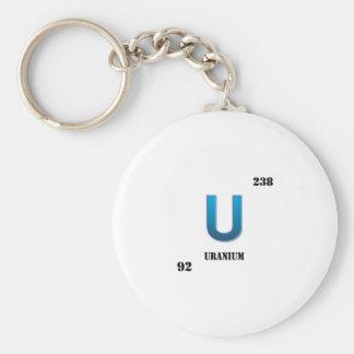 uranium basic round button keychain
