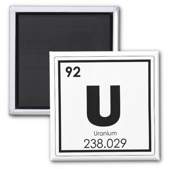 Uranium Chemical Element Symbol Chemistry Formula Magnet Zazzle