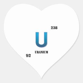 uranium heart sticker