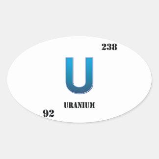 uranium oval sticker