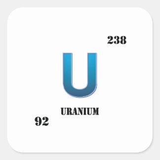 uranium square sticker