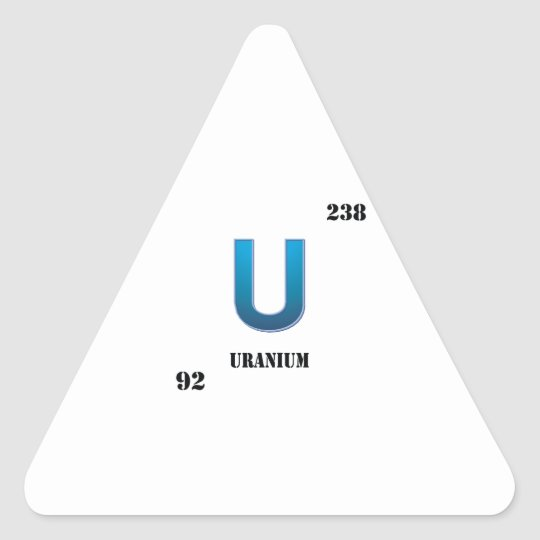 uranium triangle sticker