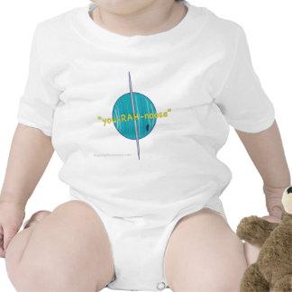 Urano-Amarillo con el Web site Camiseta