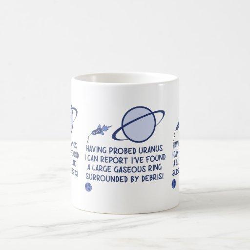 Urano divertido taza de café