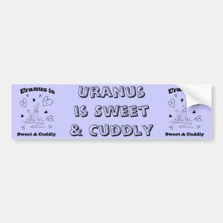 Urano es pegatina para el parachoques dulce y mimo pegatina de parachoque