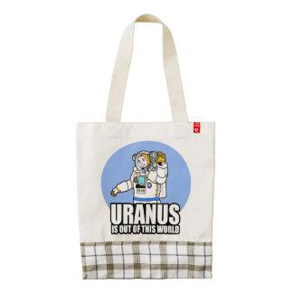 Urano está fuera de este mundo bolsa tote zazzle HEART