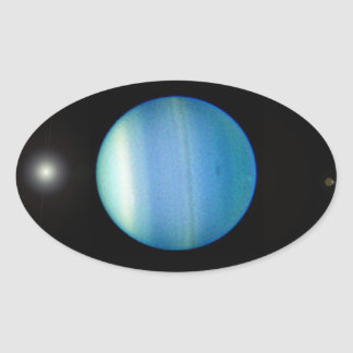 uranus oval sticker