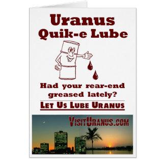 Uranus Quik-e Lube Card