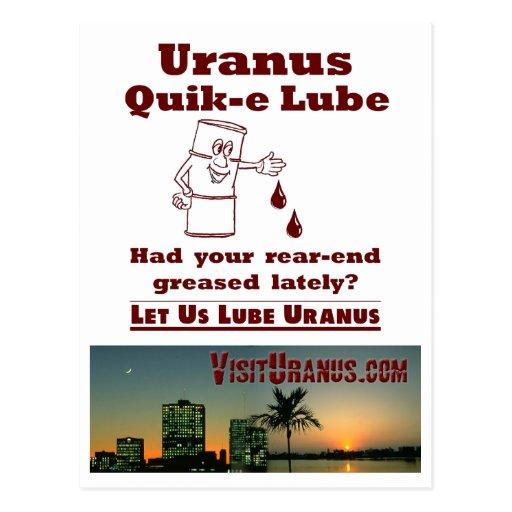 Uranus Quik-e Lube Postcard