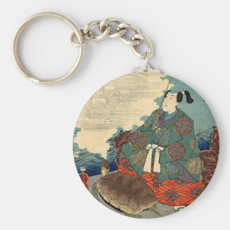 Urashima Taro and the Turtle Japanese Fairy Tale Keychain