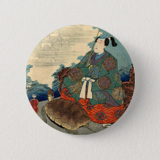 Urashima Taro and the Turtle Japanese Fairy Tale Pinback Button