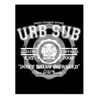 URB SUB 2 COLOR LOGO POSTCARD
