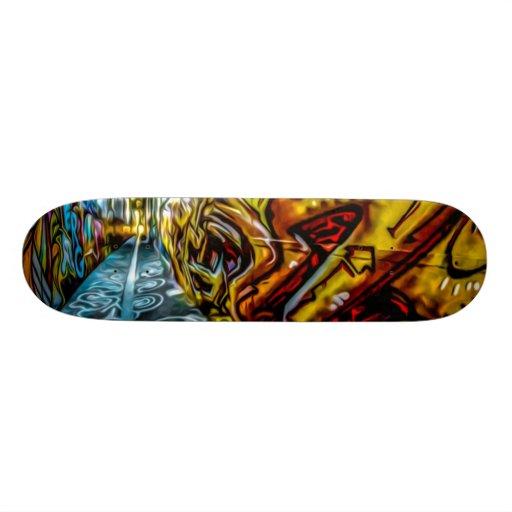 Urba Graffiti Wall Art Skateboard Deck Zazzle