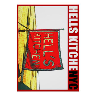 Urban59 ArtWorks Studio Hells Kitchen NYC Poster