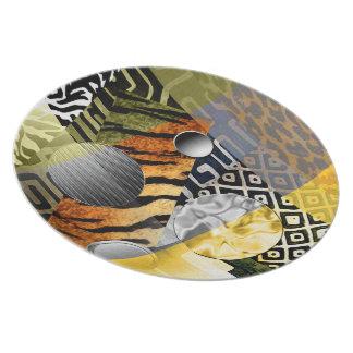Urban African Festival Melamine Plate