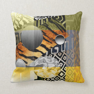 Urban African Festival Throw Pillow