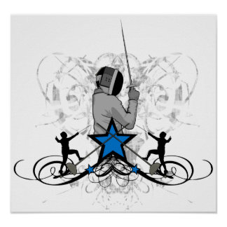 Urban and Hip Fencing Illustration Poster