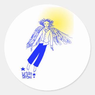 Urban Angel Classic Round Sticker