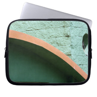 Urban architecture in green color laptop sleeve