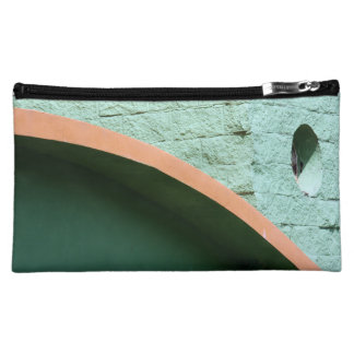 Urban architecture in green color makeup bag