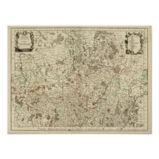Urban areas of France Print