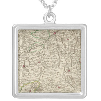 Urban areas of Germany 2 Square Pendant Necklace