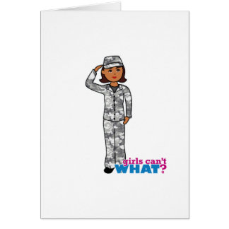Urban Army Girl Card