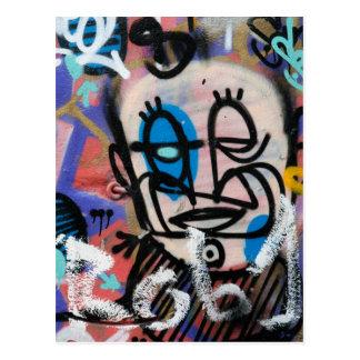 Urban art graffitis postcard