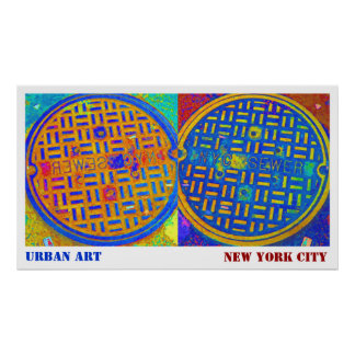 """Urban Art NYC Sewer"" by Urban59 Studio Poster"
