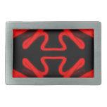 Urban Art Red Neon Arrows Modern Home Decor Belt Buckles