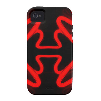 Urban Art Red Neon Arrows Modern Home Decor iPhone 4/4S Cover