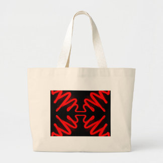 Urban Art Red Neon Arrows Modern Home Decor Large Tote Bag