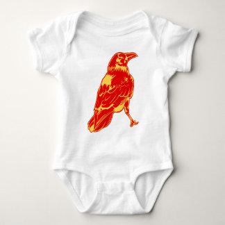 Urban Artistic Lone Crow Illustration Baby Bodysuit
