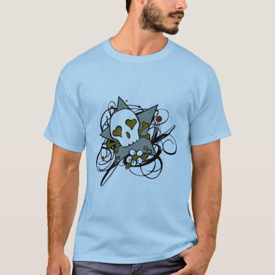 Urban Artistic Skull Star Tattoo Illustration T-Shirt