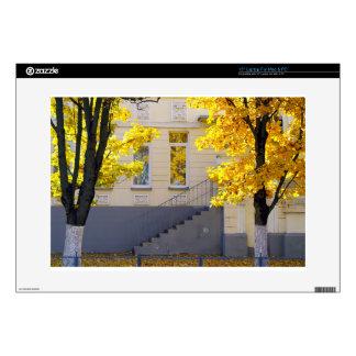 "Urban autumn scene decal for 15"" laptop"
