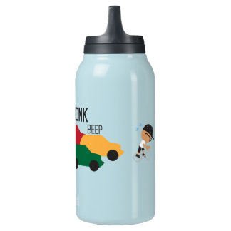 Urban Awkward Slow Traffic Bicyclist Insulated Water Bottle