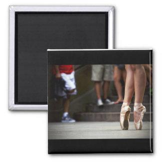 """Urban Ballerina"" 2 Inch Square Magnet"