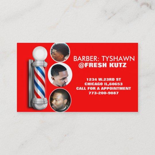 Urban Barber Shop Business Cards Zazzle