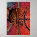 urban basketball ball poster