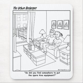 Urban Beekeeper Cartoon - Mousepad