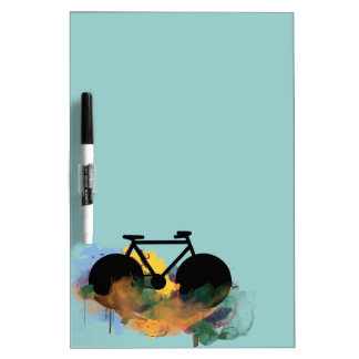 urban bicycle art graphic illustration Dry-Erase board