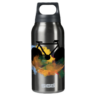 urban bicycle art graphic illustration insulated water bottle