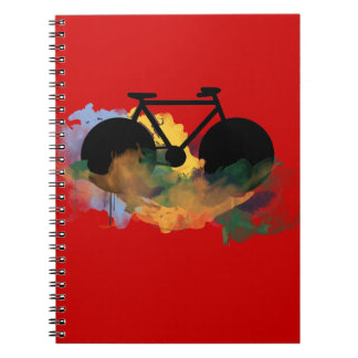 urban bicycle art graphic illustration notebook