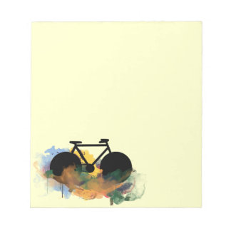 urban bicycle art graphic illustration notepad