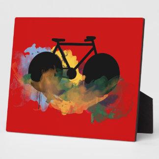 urban bicycle art graphic illustration plaque