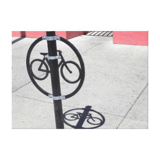 Urban Bicycle Hitching Post Canvas Print