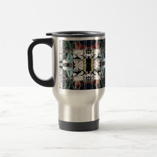 urban bicycle rider pattern mug design