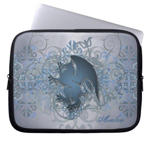 Urban Blue Fantasy Griffin Laptop Sleeve